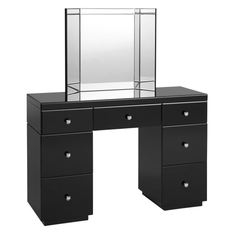 Shard glass black dressing table wren living