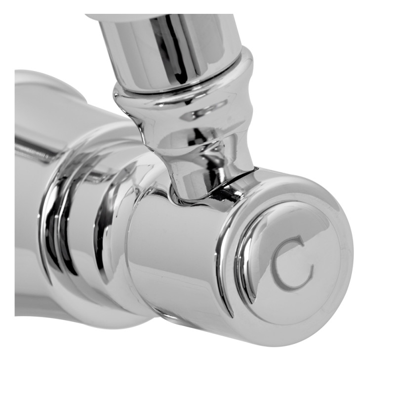 Fortuna Tap Chrome with White Handles - High/Low Pressure additional image 3
