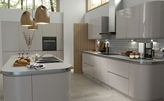 Handleless Cashmere Gloss Kitchen