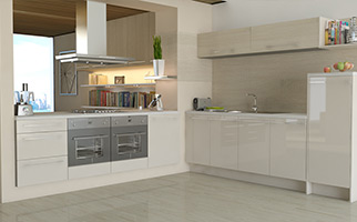Autograph Grey Oak Gloss Kitchen