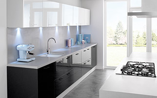 High gloss finish fitted kitchens for Fitted kitchen quotes